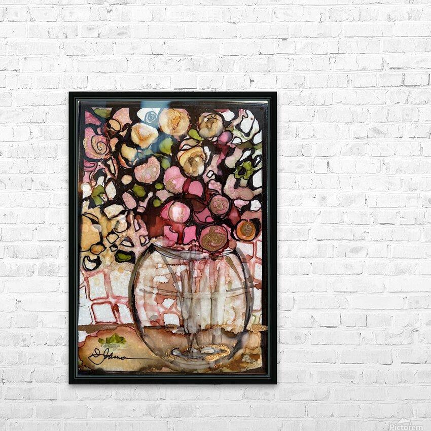 Floral Fun HD sublimation métal imprimé avec décoration flotteur cadre (boîte)