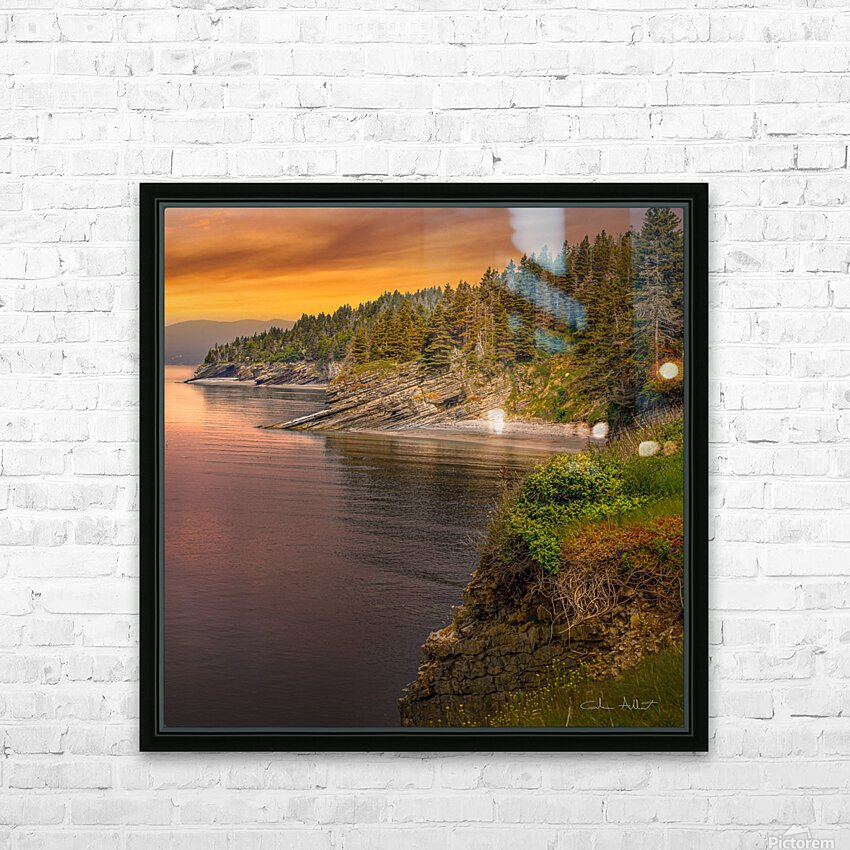 Vue Ouest Anse St-Georges HD Sublimation Metal print with Decorating Float Frame (BOX)