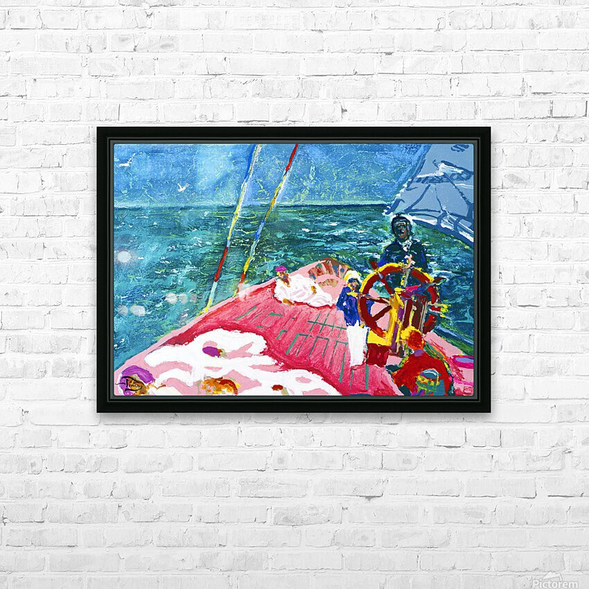 At the Wheel of The Sea Ray HD Sublimation Metal print with Decorating Float Frame (BOX)