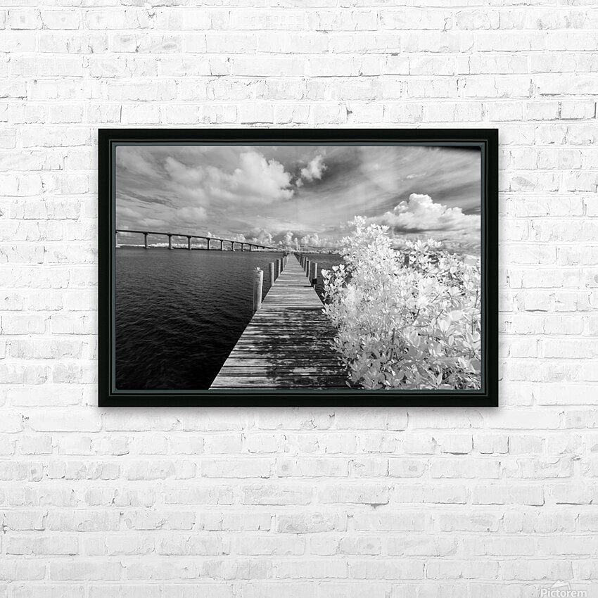 Wabasso Causeway Florida with boat dock HD Sublimation Metal print with Decorating Float Frame (BOX)