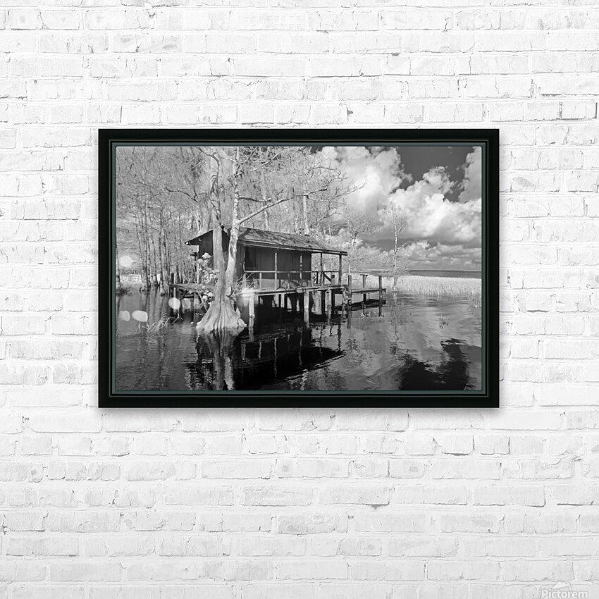 Fish Camp at Blue Cypress Lake Florida HD Sublimation Metal print with Decorating Float Frame (BOX)