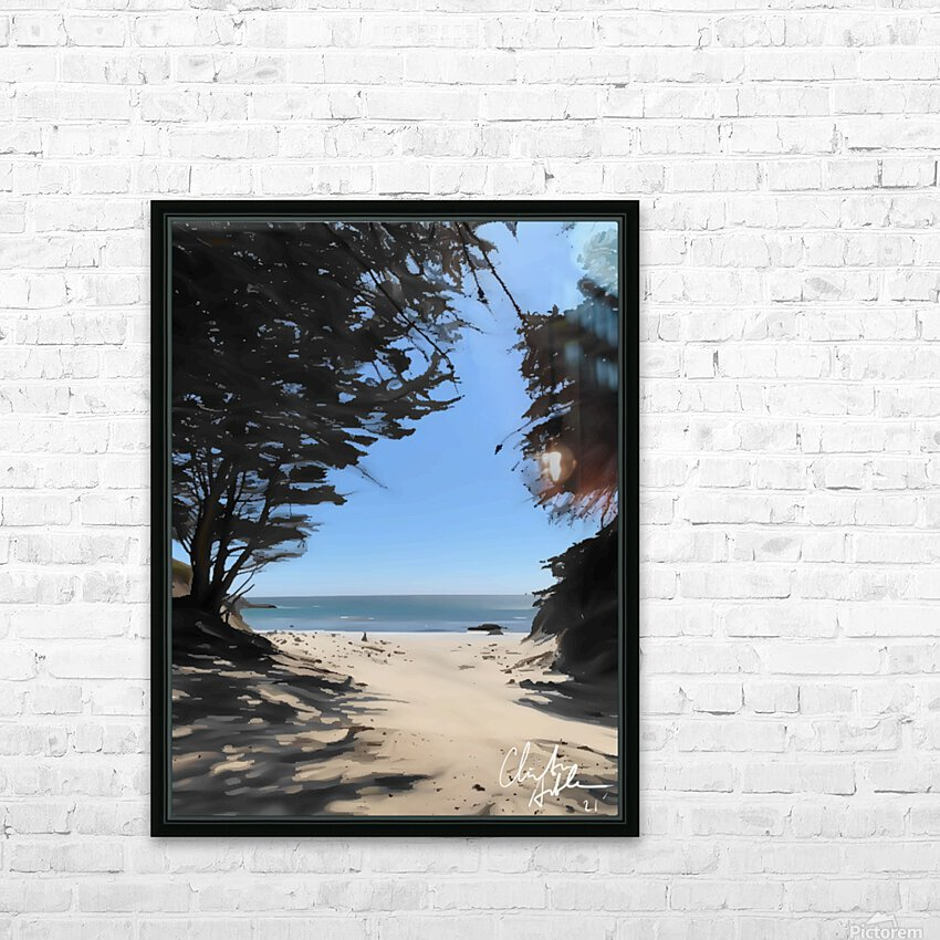 Peaceful Beach HD Sublimation Metal print with Decorating Float Frame (BOX)