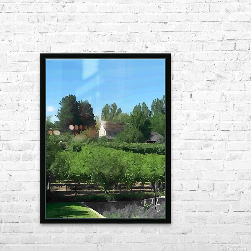 Fields of Green HD Sublimation Metal print with Decorating Float Frame (BOX)