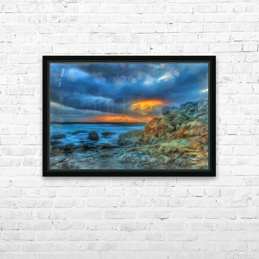 Evening Storm HD Sublimation Metal print with Decorating Float Frame (BOX)