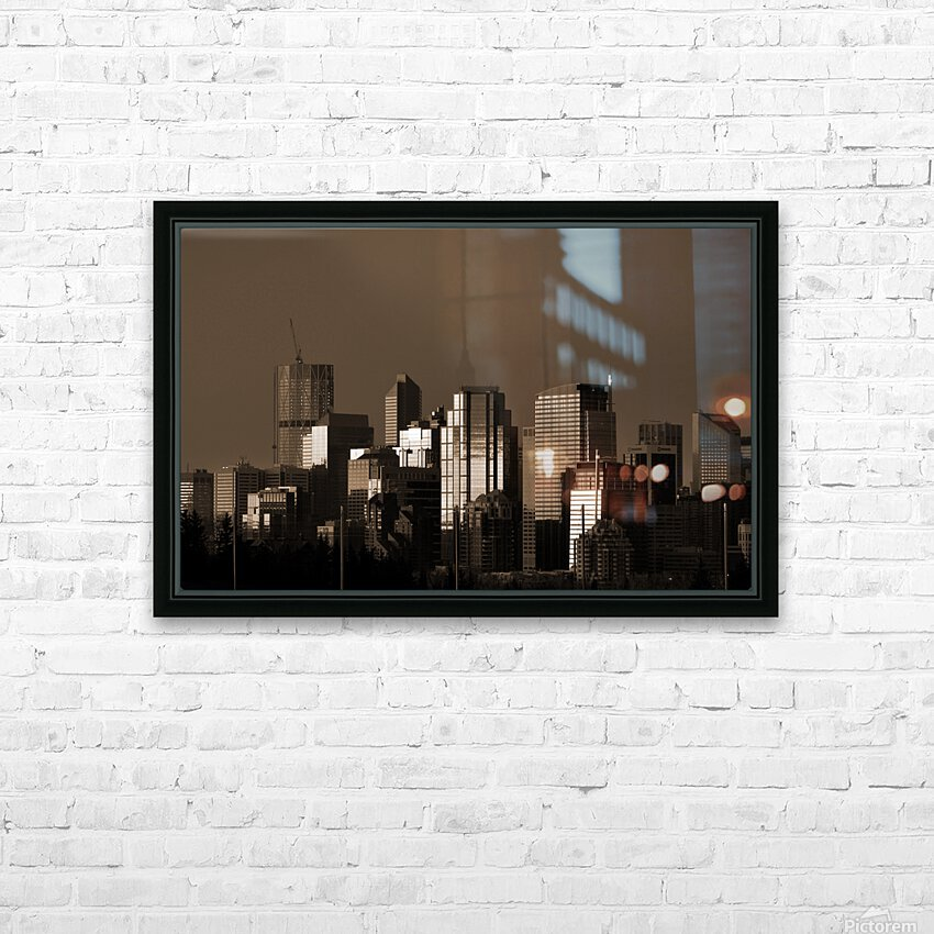Calgary Skyline HD Sublimation Metal print with Decorating Float Frame (BOX)