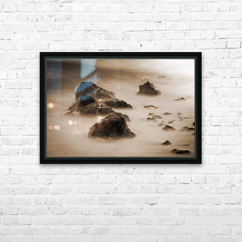 Beyond Here Be Dragons HD Sublimation Metal print with Decorating Float Frame (BOX)