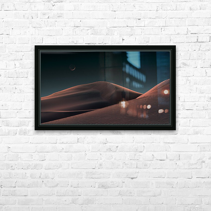 Lunar Sands HD Sublimation Metal print with Decorating Float Frame (BOX)