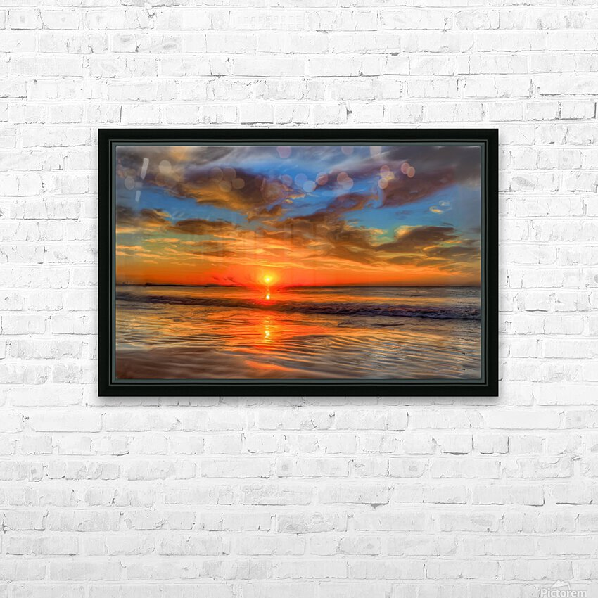 Golden Sea HD Sublimation Metal print with Decorating Float Frame (BOX)