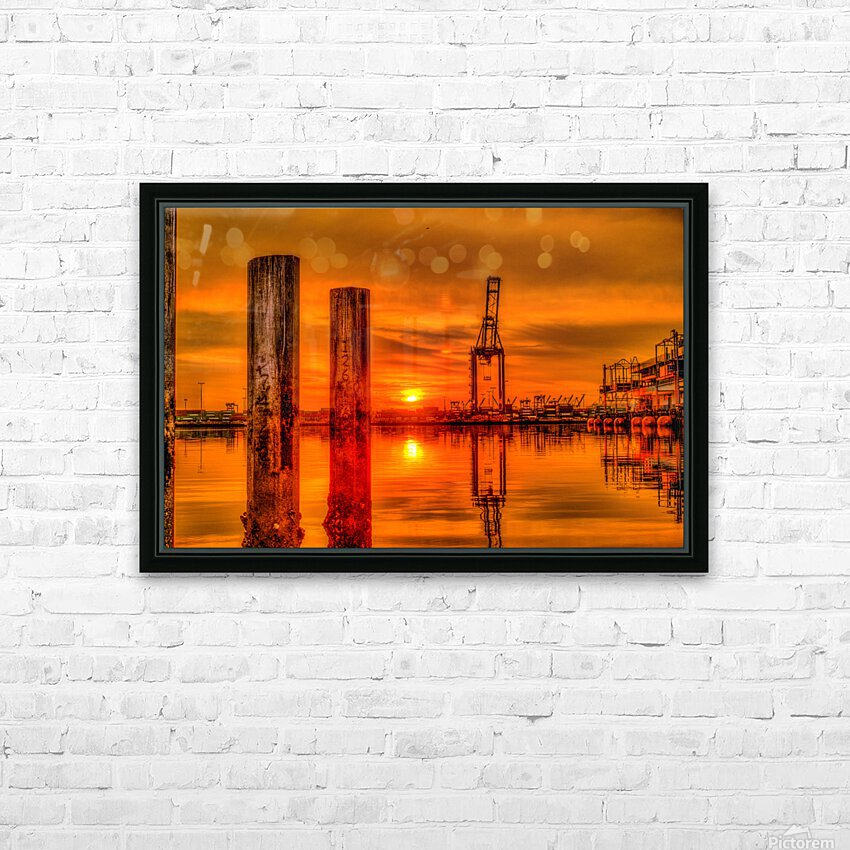 Liquid Gold HD Sublimation Metal print with Decorating Float Frame (BOX)
