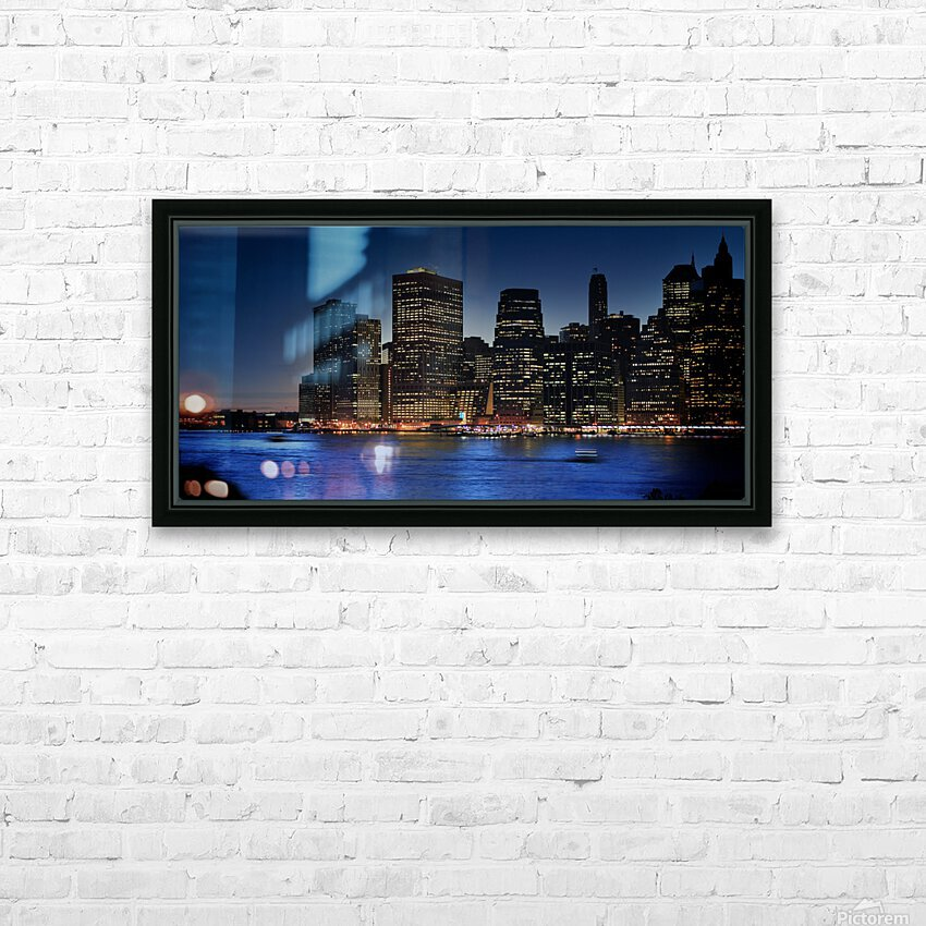 Brooklyn   USA Skyline HD Sublimation Metal print with Decorating Float Frame (BOX)