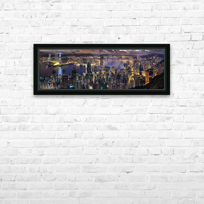 Hong Kong city  HD Sublimation Metal print with Decorating Float Frame (BOX)