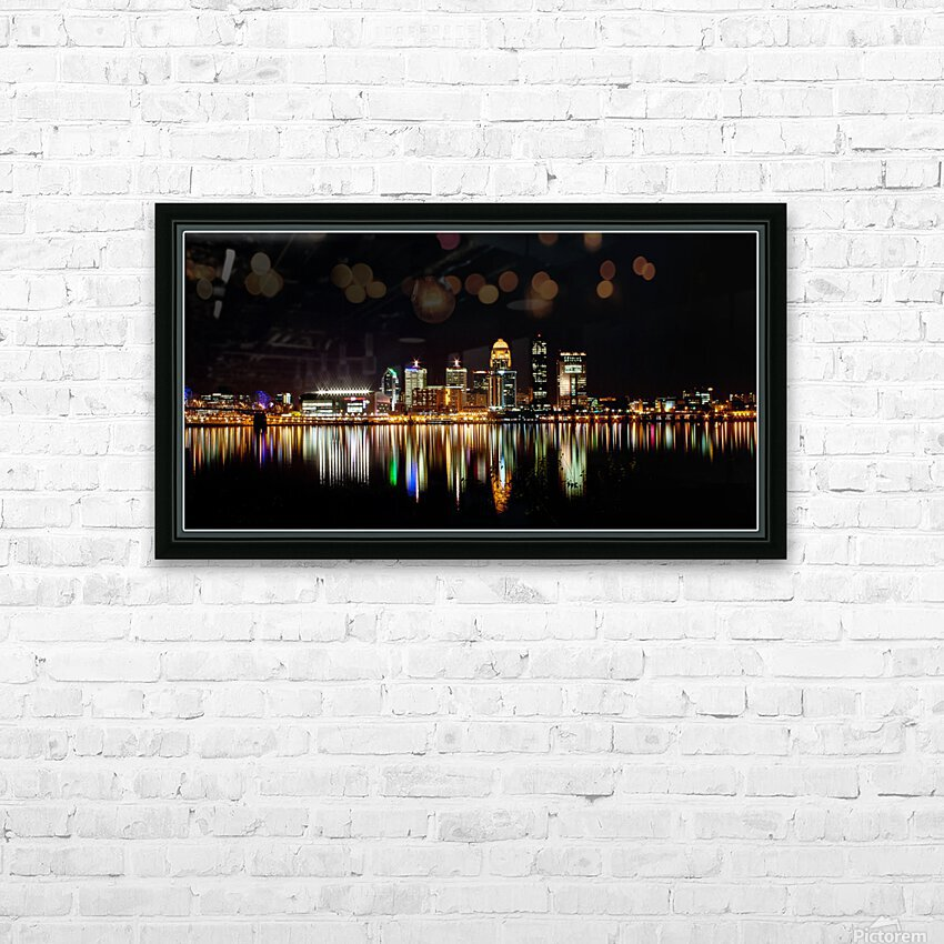 Louisville Skyline HD Sublimation Metal print with Decorating Float Frame (BOX)