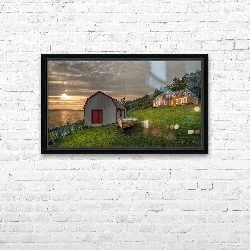 Hangar et chaloupe de la maison Xavier-Blanchette HD Sublimation Metal print with Decorating Float Frame (BOX)