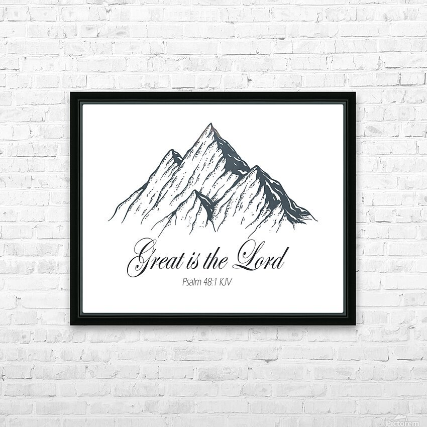Great is the Lord HD Sublimation Metal print with Decorating Float Frame (BOX)