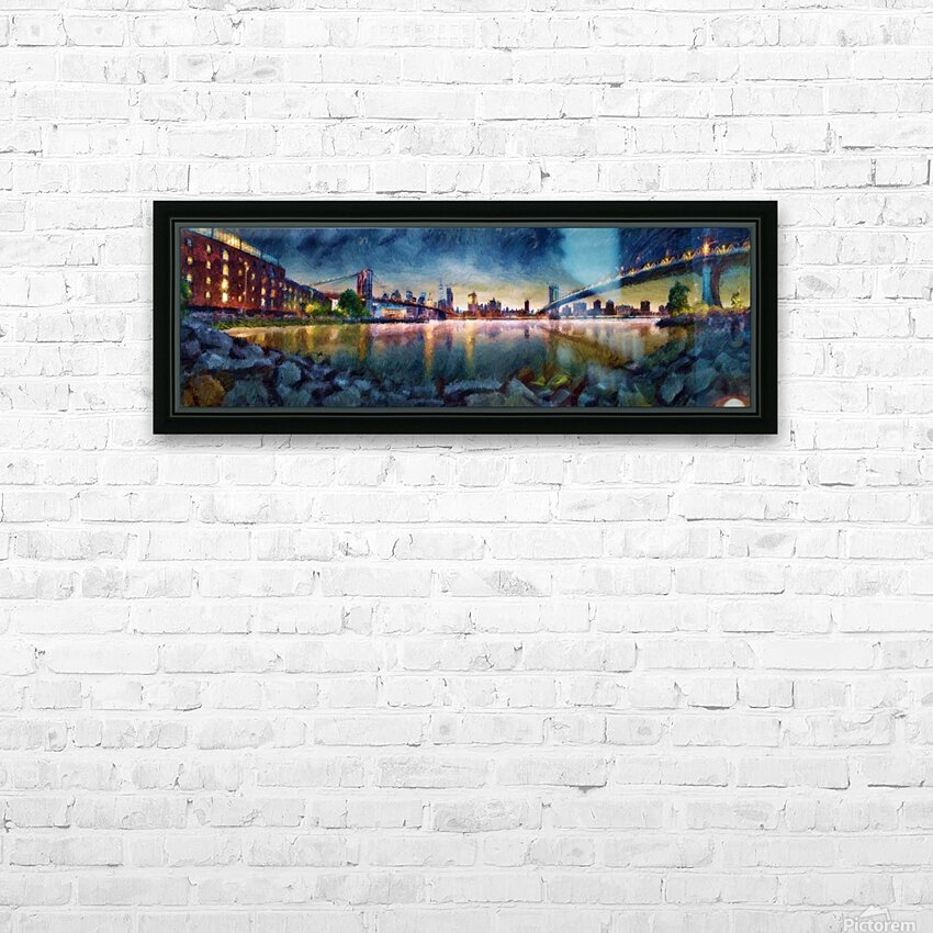 Brooklyn Cove Panorama Painting  HD Sublimation Metal print with Decorating Float Frame (BOX)