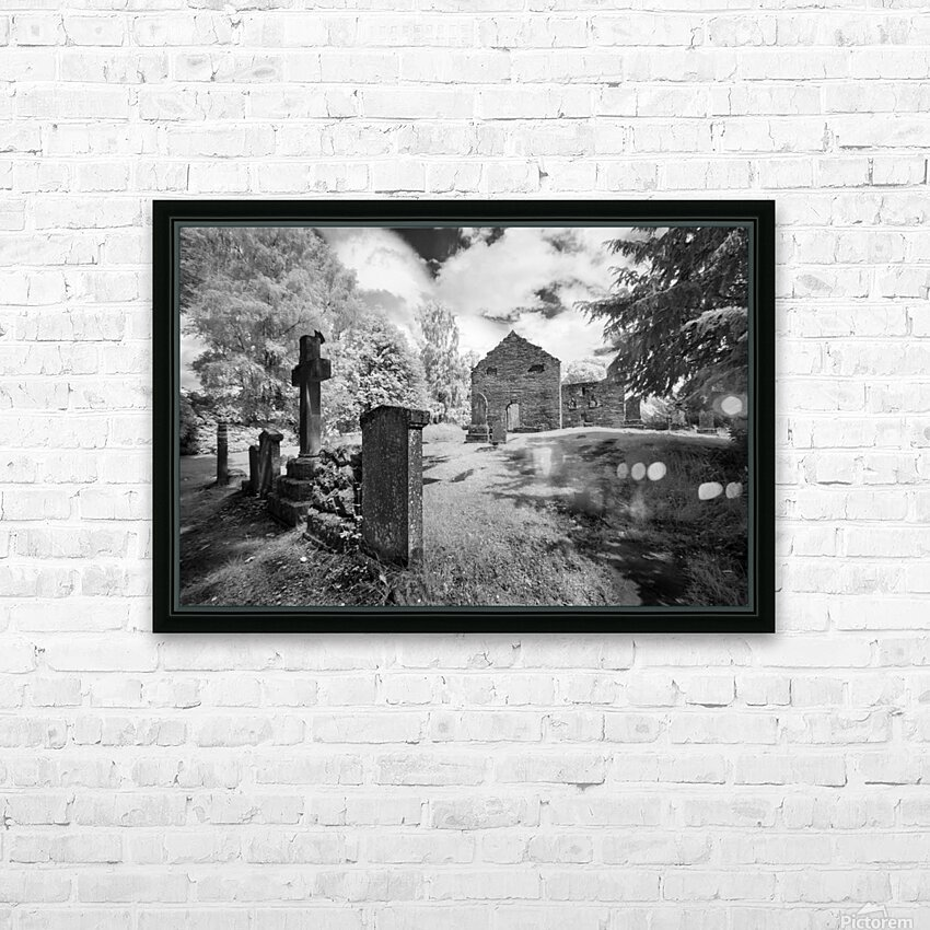 Infrared Scotland graveyard HD Sublimation Metal print with Decorating Float Frame (BOX)