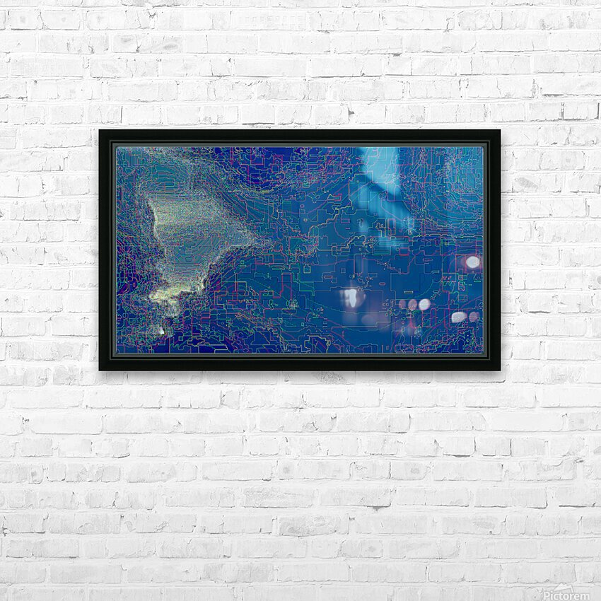 Waterfall Prism HD Sublimation Metal print with Decorating Float Frame (BOX)