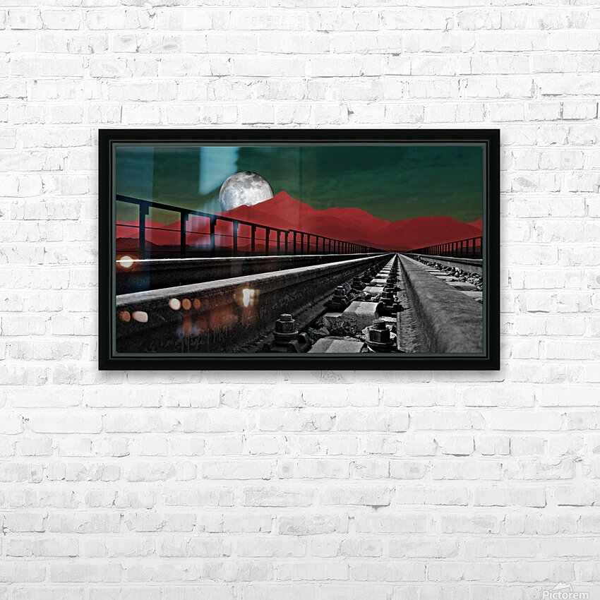 Railroad  HD Sublimation Metal print with Decorating Float Frame (BOX)