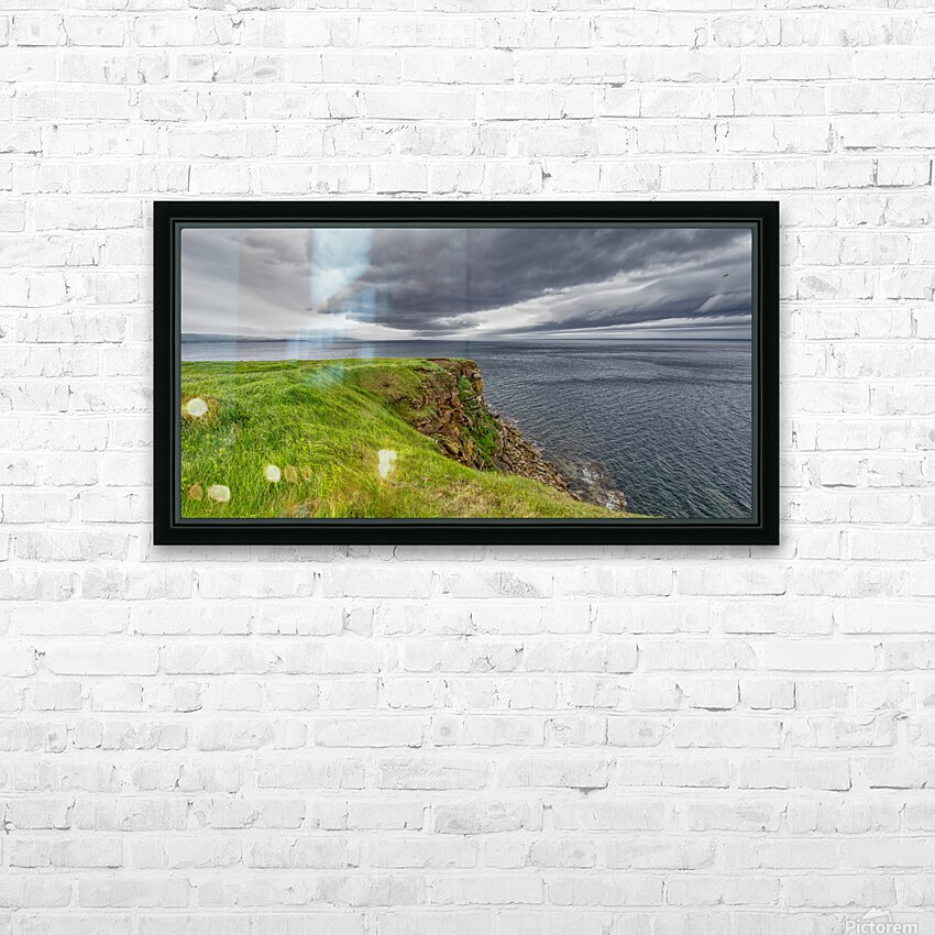 Cheticamp Island Drama HD Sublimation Metal print with Decorating Float Frame (BOX)