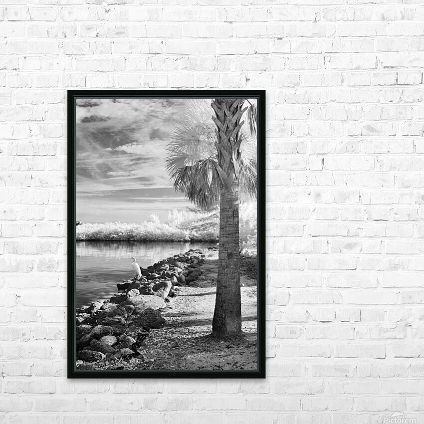 Wabasso Causeway with great white heron HD Sublimation Metal print with Decorating Float Frame (BOX)
