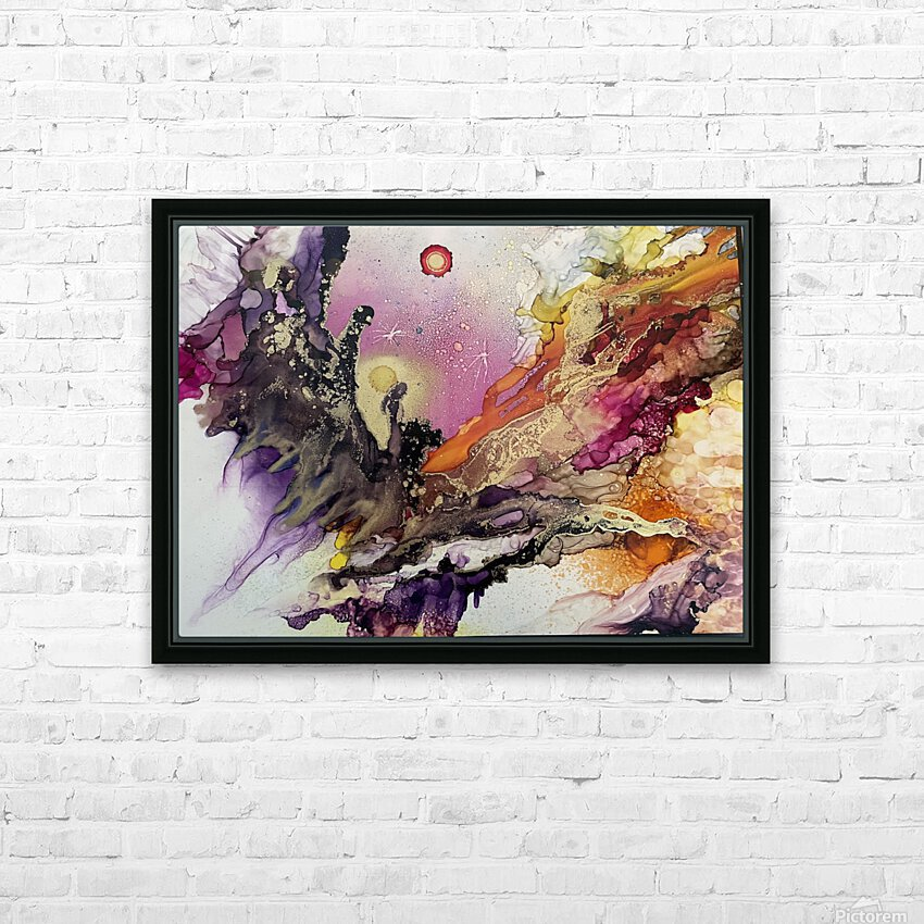 Galactic  HD Sublimation Metal print with Decorating Float Frame (BOX)