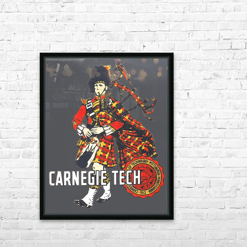 1950s Carnegie Tech Tartans Vintage Art   Row 1 HD Sublimation Metal print with Decorating Float Frame (BOX)