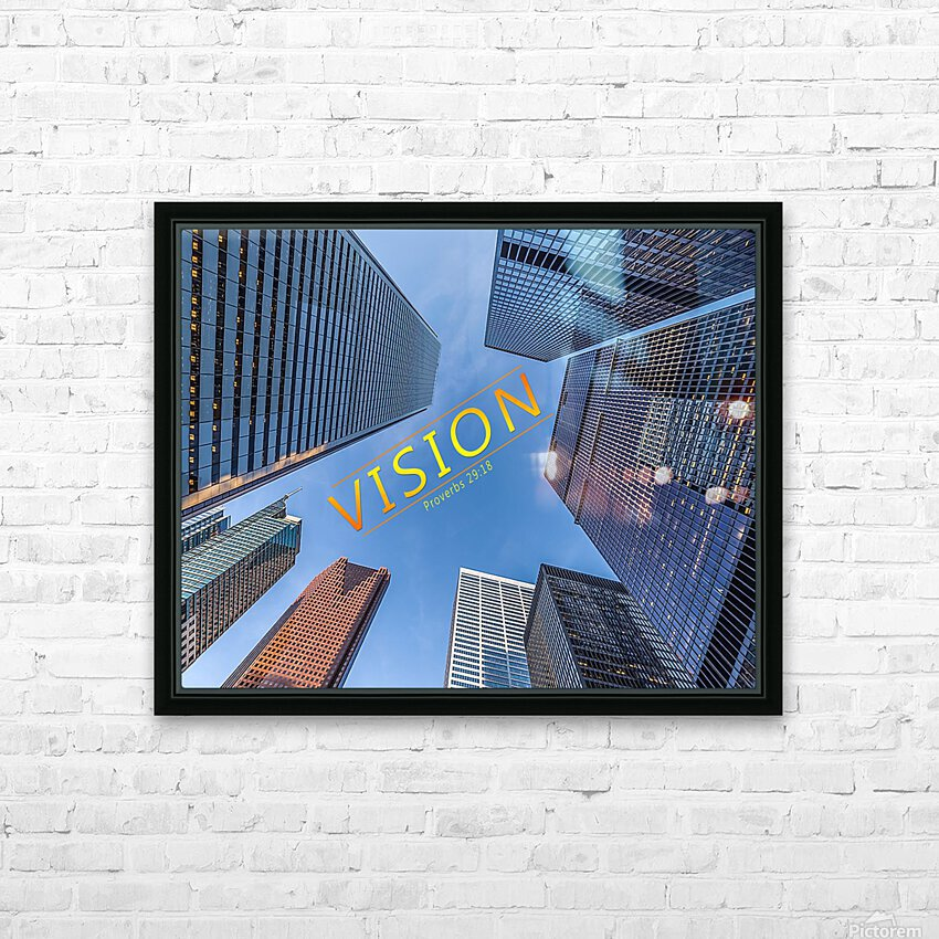 vision HD Sublimation Metal print with Decorating Float Frame (BOX)