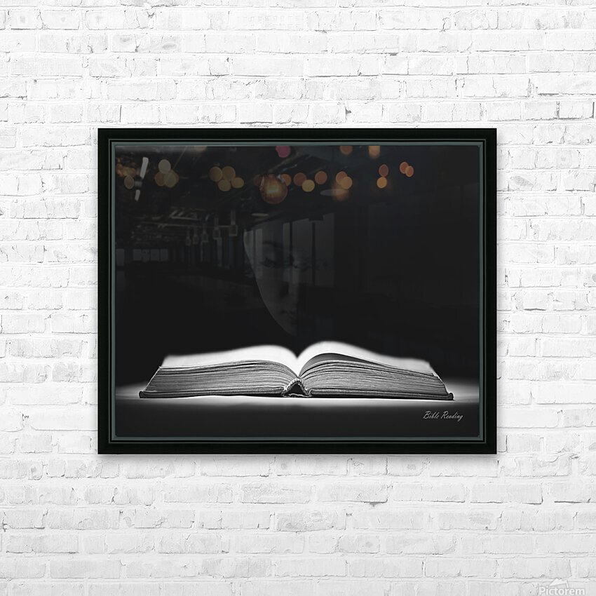 Bible Reading HD Sublimation Metal print with Decorating Float Frame (BOX)
