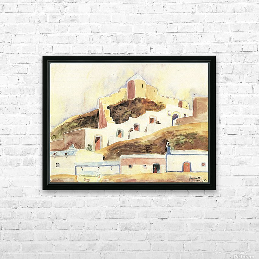 Almeria II by Walter Gramatte HD Sublimation Metal print with Decorating Float Frame (BOX)