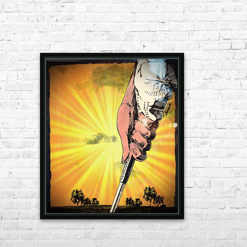 1985 Golf Art   Row 1 HD Sublimation Metal print with Decorating Float Frame (BOX)