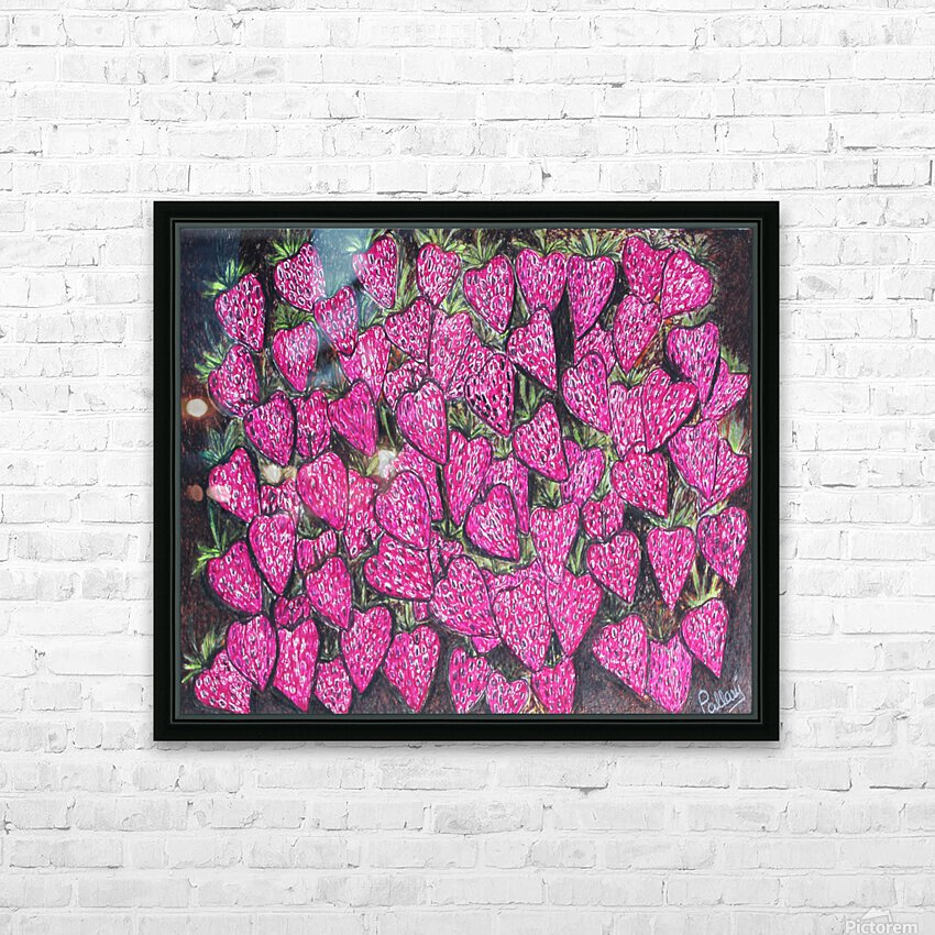 Strawberries HD Sublimation Metal print with Decorating Float Frame (BOX)
