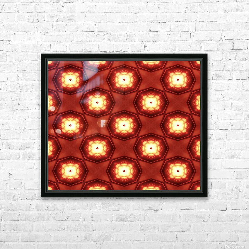 Fiery red HD Sublimation Metal print with Decorating Float Frame (BOX)