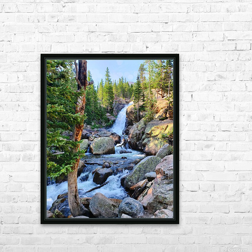 Alberta Falls HD Sublimation Metal print with Decorating Float Frame (BOX)