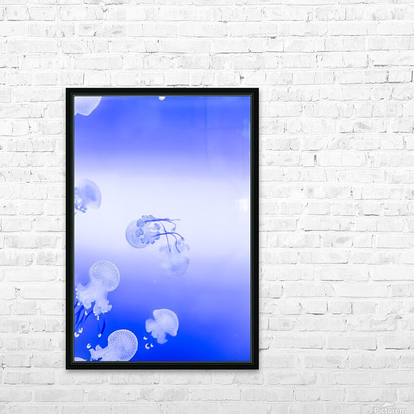 Jellyfish HD Sublimation Metal print with Decorating Float Frame (BOX)