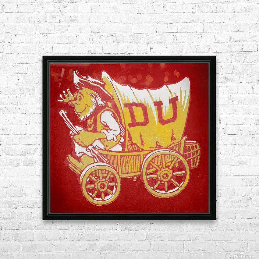 Vintage Denver Pioneers Art HD Sublimation Metal print with Decorating Float Frame (BOX)