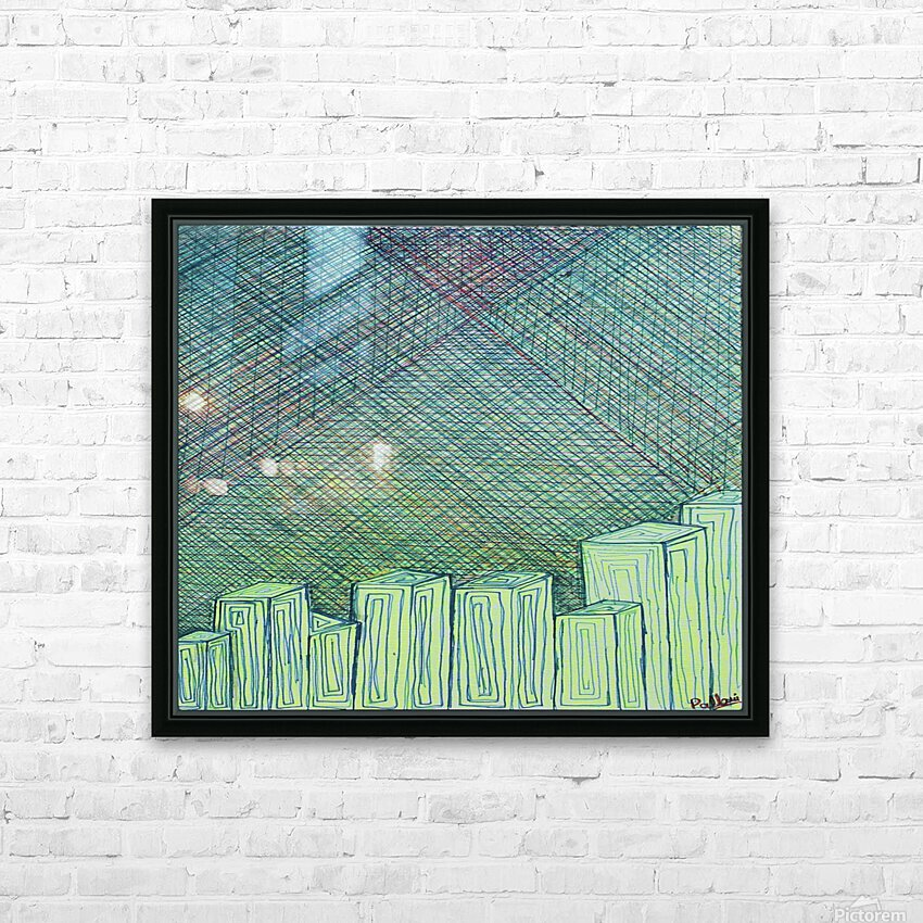 Greenblocks HD Sublimation Metal print with Decorating Float Frame (BOX)