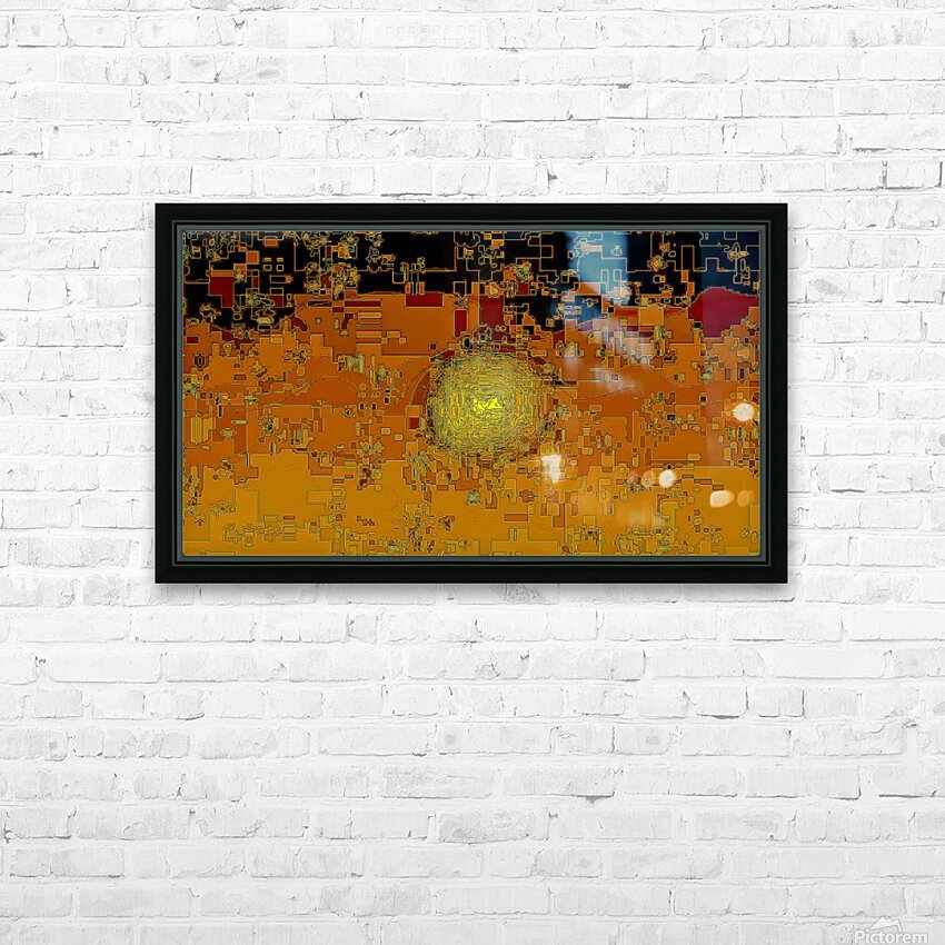 Mayan Sun HD Sublimation Metal print with Decorating Float Frame (BOX)