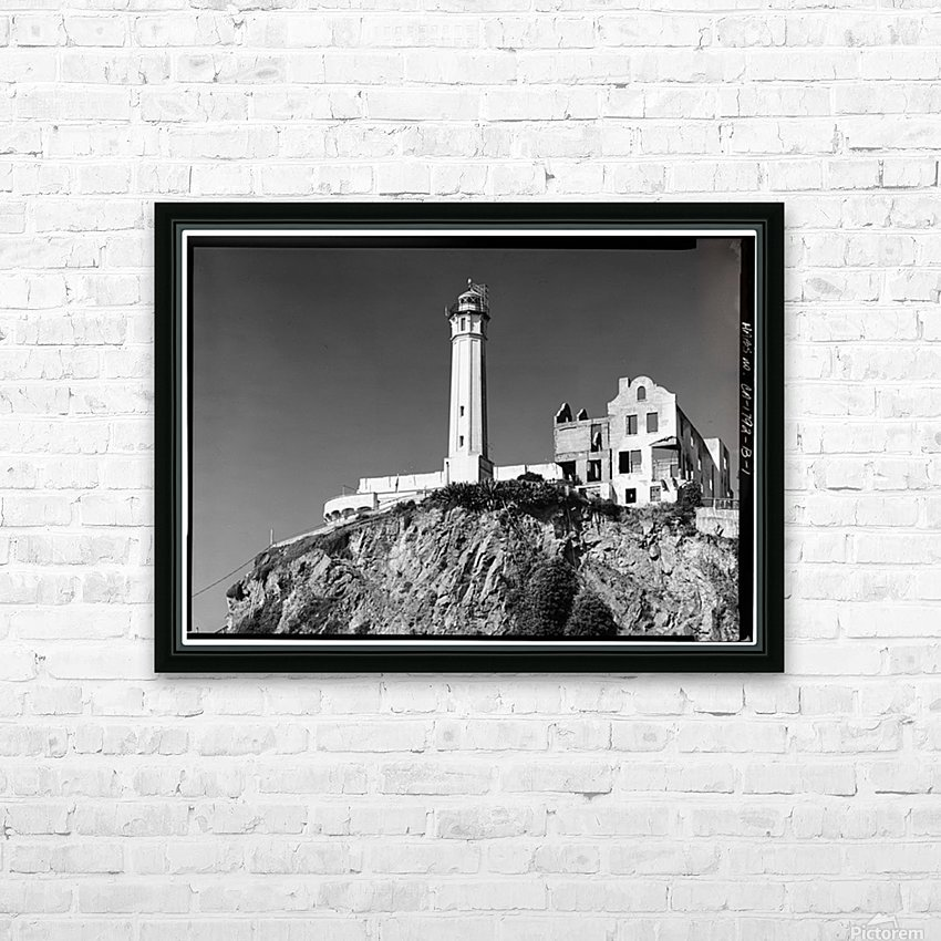 Alcatraz Lighthouse, California HD Sublimation Metal print with Decorating Float Frame (BOX)