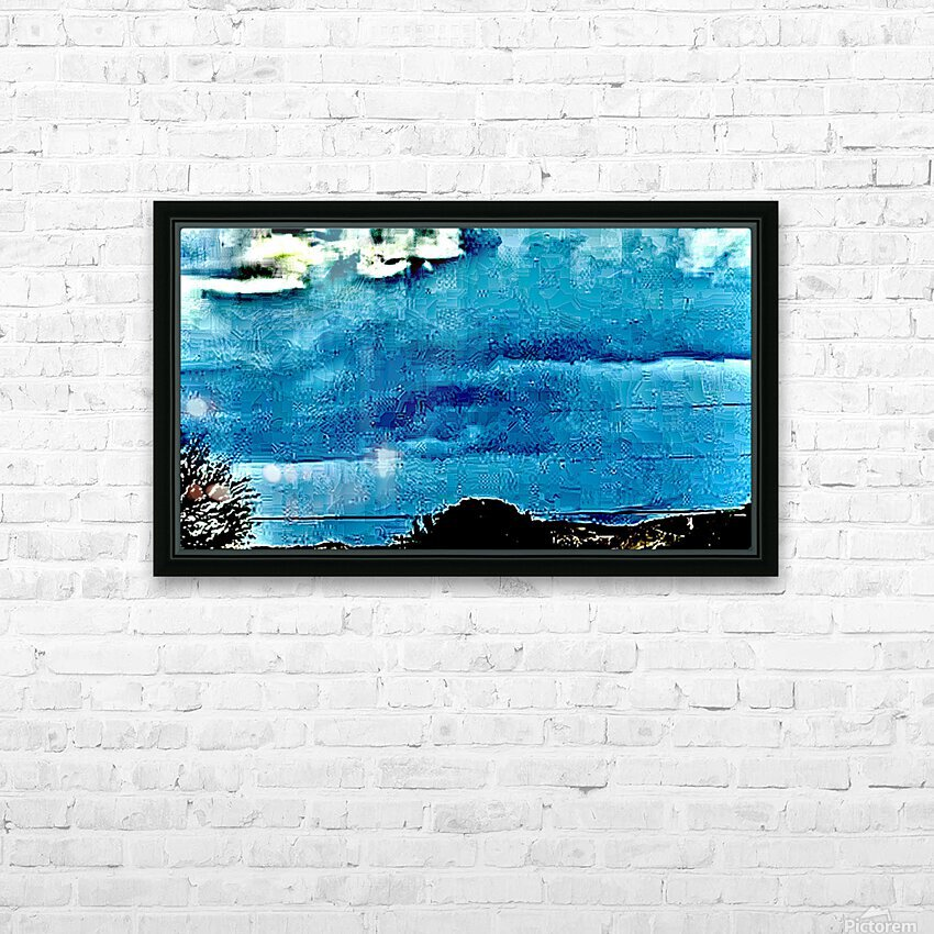 Blue Magnetic Wall HD Sublimation Metal print with Decorating Float Frame (BOX)