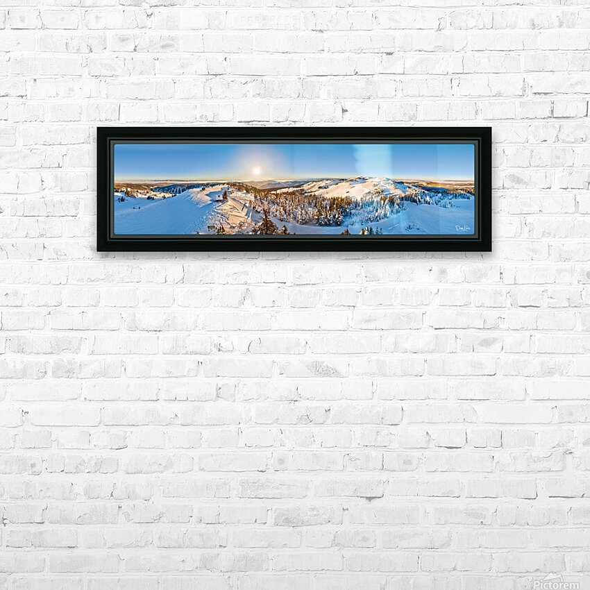 Above the Top of the World HD Sublimation Metal print with Decorating Float Frame (BOX)