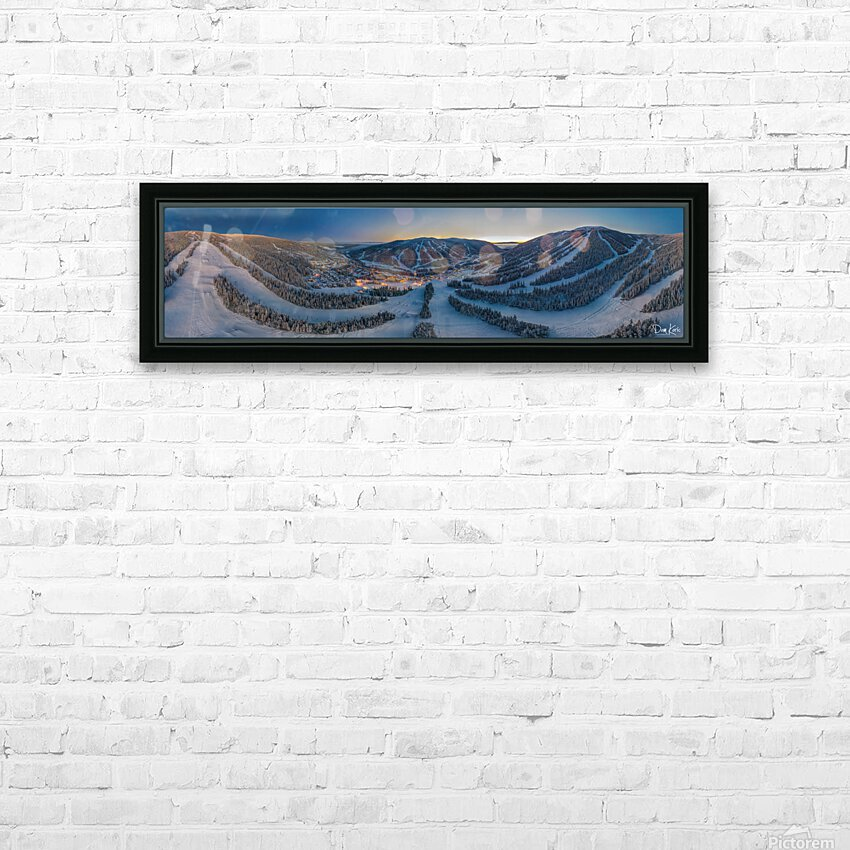 Valley Twilight Wide HD Sublimation Metal print with Decorating Float Frame (BOX)