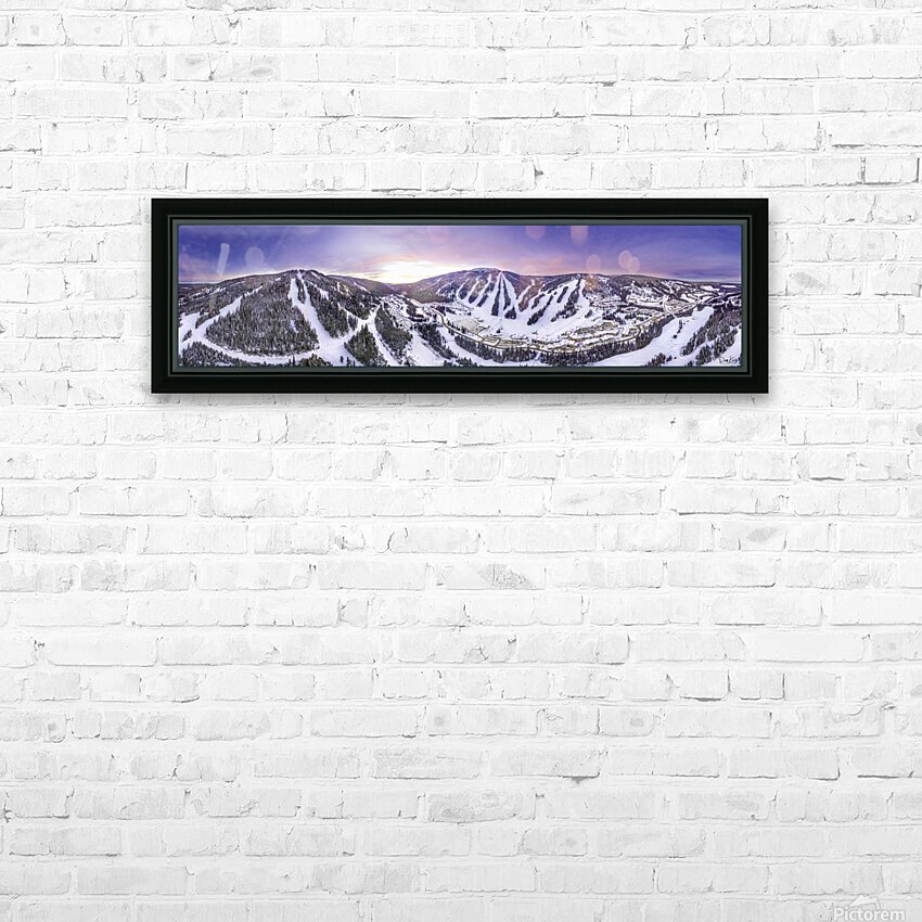 Valley Sunset Wide HD Sublimation Metal print with Decorating Float Frame (BOX)
