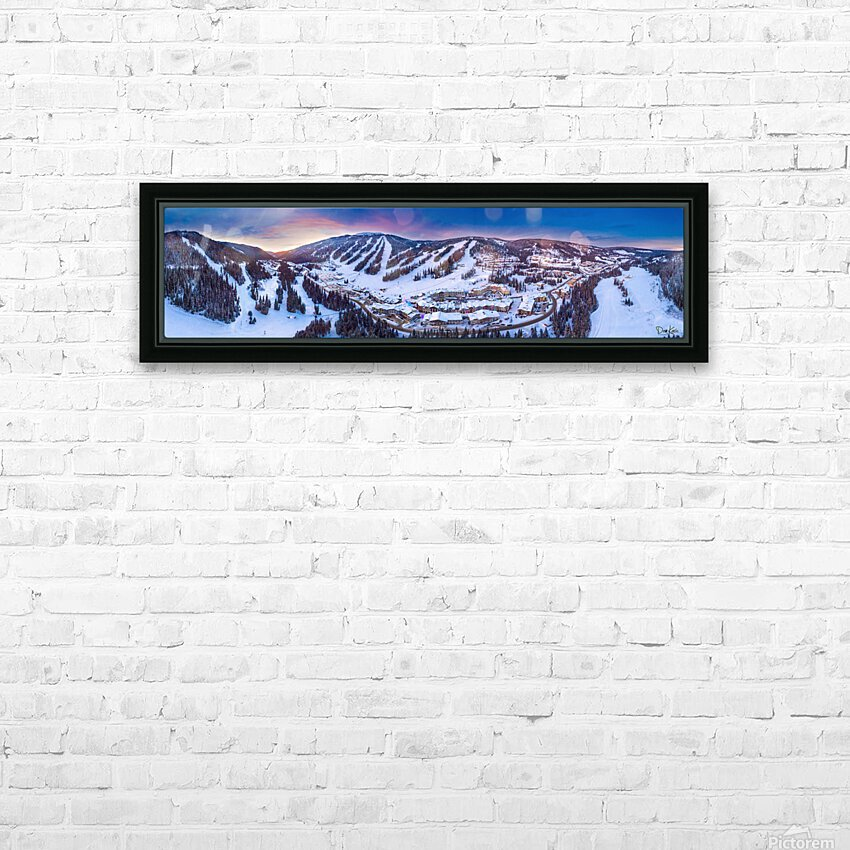 Village Sunset Wide HD Sublimation Metal print with Decorating Float Frame (BOX)