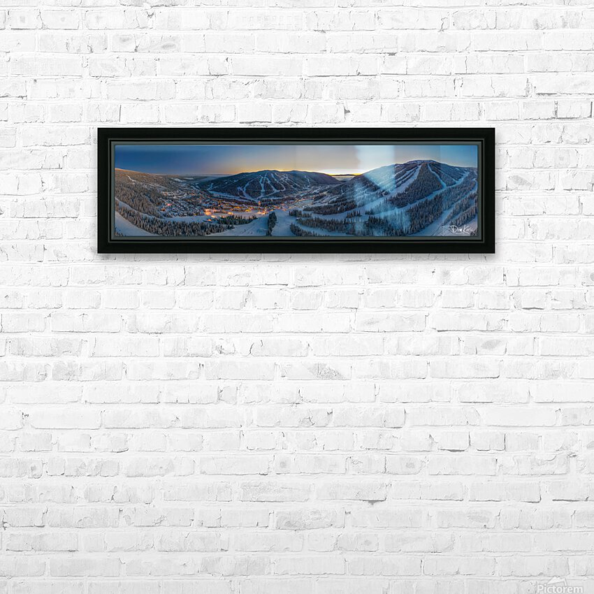Valley Twilight  HD Sublimation Metal print with Decorating Float Frame (BOX)