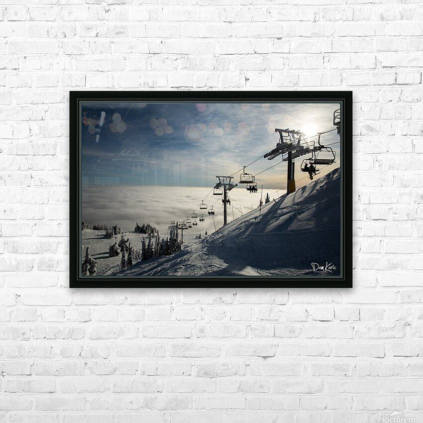 Dec 31 Print 8 HD Sublimation Metal print with Decorating Float Frame (BOX)