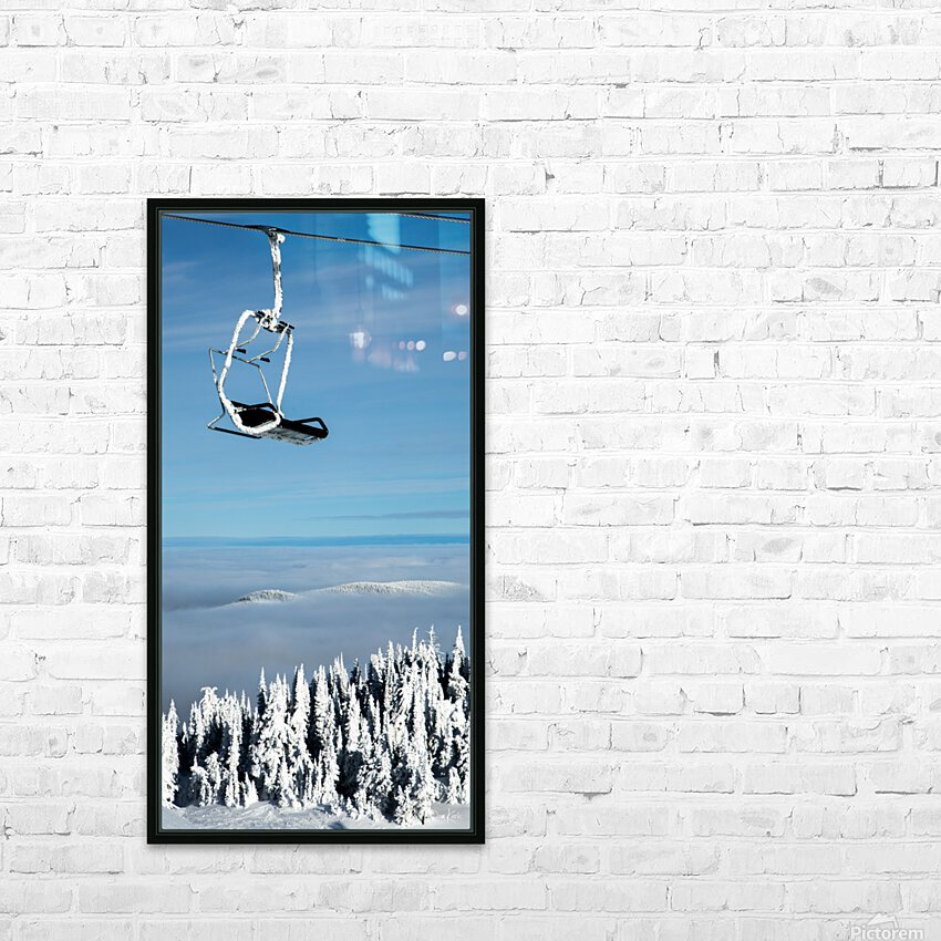 Steel Sky HD Sublimation Metal print with Decorating Float Frame (BOX)