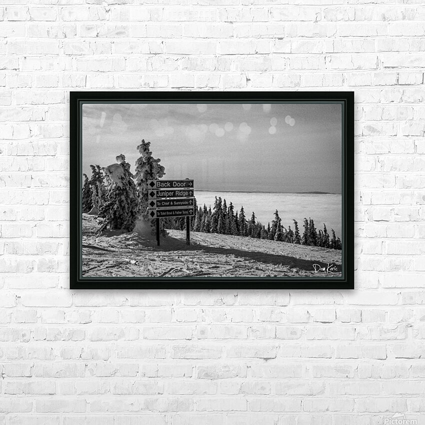 Quiet Ease HD Sublimation Metal print with Decorating Float Frame (BOX)