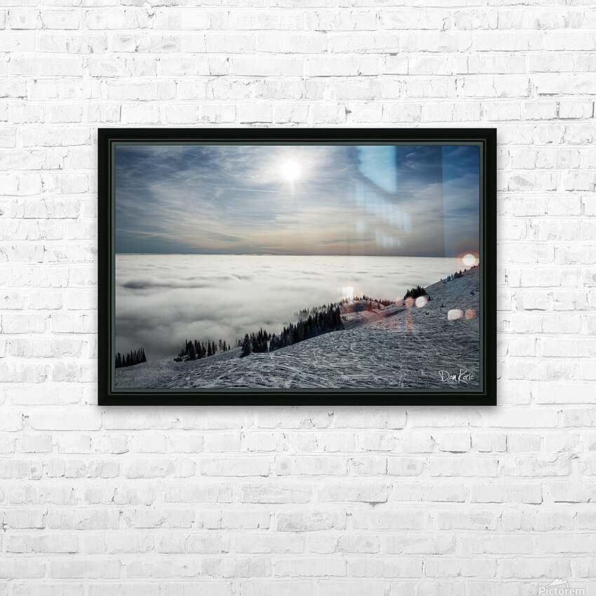 Descent to the Clouds HD Sublimation Metal print with Decorating Float Frame (BOX)