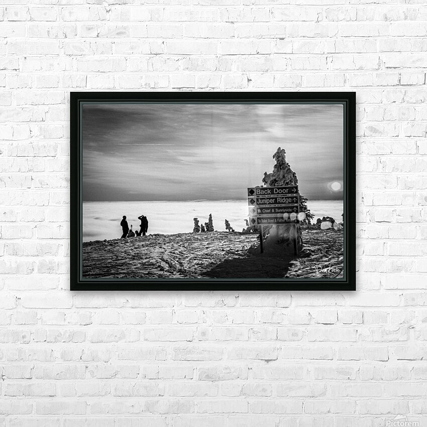 Contemplation  HD Sublimation Metal print with Decorating Float Frame (BOX)