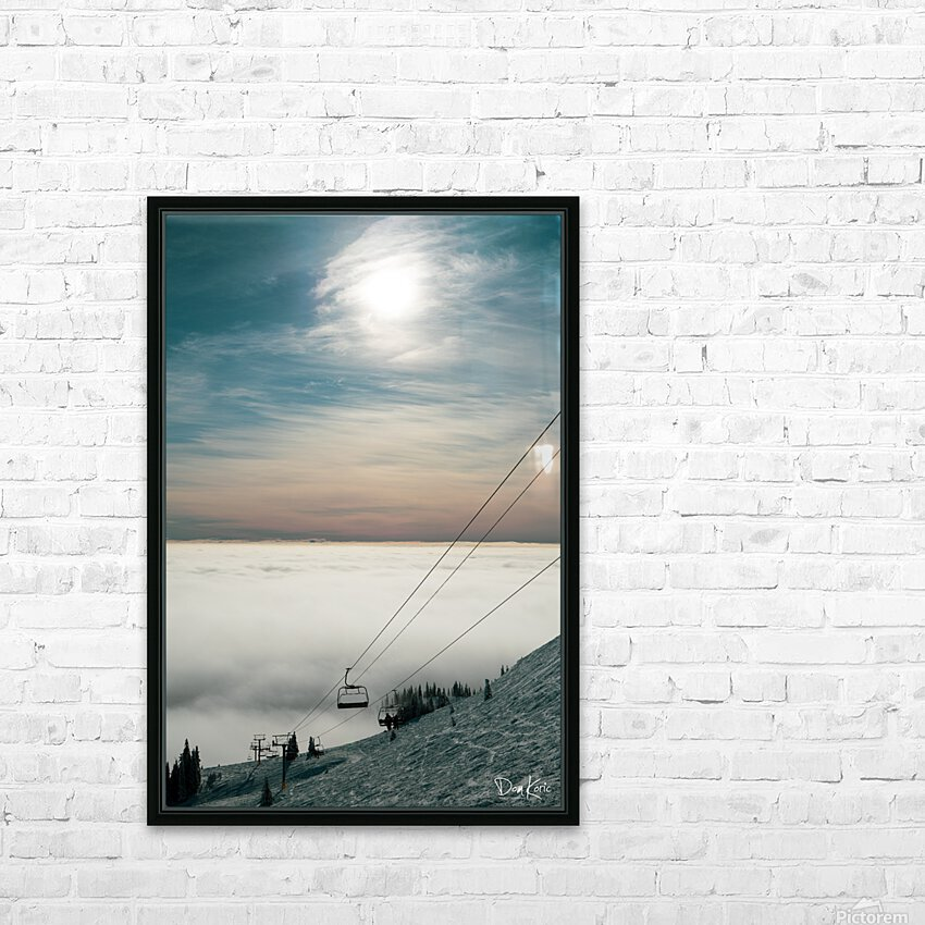 Sun Scape HD Sublimation Metal print with Decorating Float Frame (BOX)